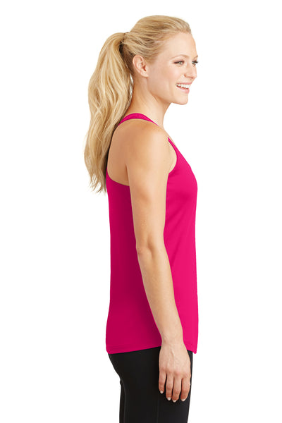 Sport-Tek LST356 Womens Competitor Moisture Wicking Tank Top Fuchsia Pink Side