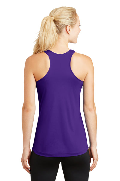 Sport-Tek LST356 Womens Competitor Moisture Wicking Tank Top Purple Back