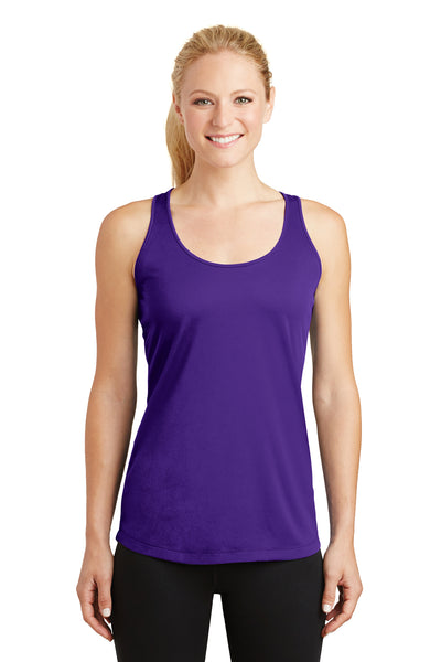 Sport-Tek LST356 Womens Competitor Moisture Wicking Tank Top Purple Front