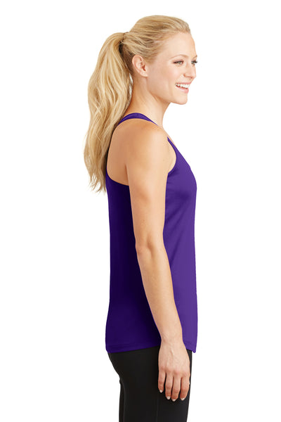 Sport-Tek LST356 Womens Competitor Moisture Wicking Tank Top Purple Side