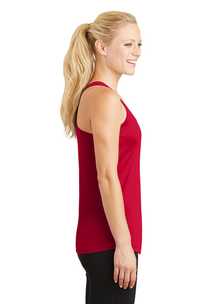 Sport-Tek LST356 Womens Competitor Moisture Wicking Tank Top Red Side