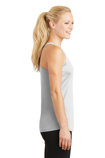 Sport-Tek LST356 Womens Competitor Moisture Wicking Tank Top White Side