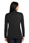 Sport-Tek LST357 Womens Competitor Moisture Wicking 1/4 Zip Sweatshirt Black Back