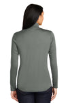 Sport-Tek LST357 Womens Competitor Moisture Wicking 1/4 Zip Sweatshirt Concrete Grey Back