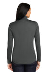 Sport-Tek LST357 Womens Competitor Moisture Wicking 1/4 Zip Sweatshirt Iron Grey Back