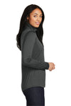 Sport-Tek LST357 Womens Competitor Moisture Wicking 1/4 Zip Sweatshirt Iron Grey Side