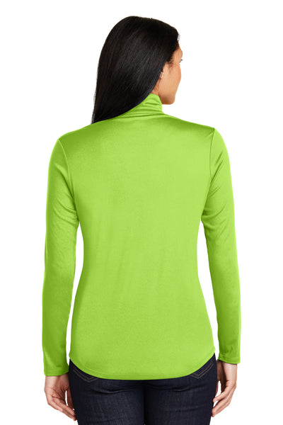 Sport-Tek LST357 Womens Competitor Moisture Wicking 1/4 Zip Sweatshirt Lime Green Back