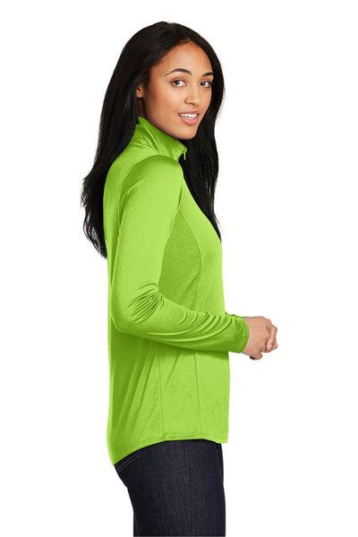 Sport-Tek LST357 Womens Competitor Moisture Wicking 1/4 Zip Sweatshirt Lime Green Side