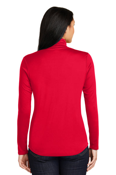 Sport-Tek LST357 Womens Competitor Moisture Wicking 1/4 Zip Sweatshirt Red Back
