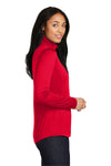 Sport-Tek LST357 Womens Competitor Moisture Wicking 1/4 Zip Sweatshirt Red Side