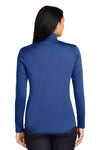 Sport-Tek LST357 Womens Competitor Moisture Wicking 1/4 Zip Sweatshirt Royal Blue Back