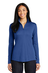 Sport-Tek LST357 Womens Competitor Moisture Wicking 1/4 Zip Sweatshirt Royal Blue Front