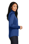 Sport-Tek LST357 Womens Competitor Moisture Wicking 1/4 Zip Sweatshirt Royal Blue Side