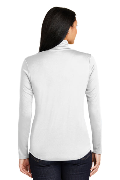 Sport-Tek LST357 Womens Competitor Moisture Wicking 1/4 Zip Sweatshirt White Back