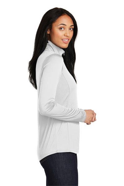 Sport-Tek LST357 Womens Competitor Moisture Wicking 1/4 Zip Sweatshirt White Side