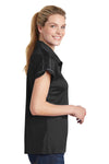 Sport-Tek LST659 Womens Sport-Wick Moisture Wicking Short Sleeve Polo Shirt Black Side
