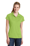 Sport-Tek LST659 Womens Sport-Wick Moisture Wicking Short Sleeve Polo Shirt Green Oasis Front