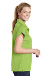 Sport-Tek LST659 Womens Sport-Wick Moisture Wicking Short Sleeve Polo Shirt Green Oasis Side