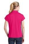 Sport-Tek LST659 Womens Sport-Wick Moisture Wicking Short Sleeve Polo Shirt Fuchsia Pink Back