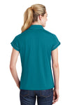 Sport-Tek LST659 Womens Sport-Wick Moisture Wicking Short Sleeve Polo Shirt Tropic Blue Back