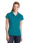 Sport-Tek LST659 Womens Sport-Wick Moisture Wicking Short Sleeve Polo Shirt Tropic Blue Front