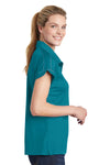 Sport-Tek LST659 Womens Sport-Wick Moisture Wicking Short Sleeve Polo Shirt Tropic Blue Side