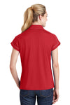 Sport-Tek LST659 Womens Sport-Wick Moisture Wicking Short Sleeve Polo Shirt Red Back