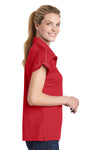 Sport-Tek LST659 Womens Sport-Wick Moisture Wicking Short Sleeve Polo Shirt Red Side