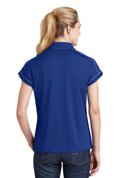 Sport-Tek LST659 Womens Sport-Wick Moisture Wicking Short Sleeve Polo Shirt Royal Blue Back