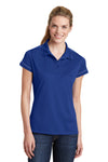 Sport-Tek LST659 Womens Sport-Wick Moisture Wicking Short Sleeve Polo Shirt Royal Blue Front