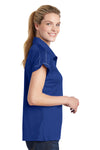 Sport-Tek LST659 Womens Sport-Wick Moisture Wicking Short Sleeve Polo Shirt Royal Blue Side