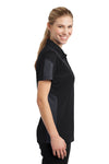 Sport-Tek LST695 Womens Active Mesh Moisture Wicking Short Sleeve Polo Shirt Black/Grey Side