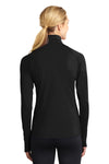 Sport-Tek LST850 Womens Sport-Wick Moisture Wicking 1/4 Zip Sweatshirt Black Back