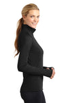 Sport-Tek LST850 Womens Sport-Wick Moisture Wicking 1/4 Zip Sweatshirt Black Side
