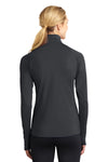 Sport-Tek LST850 Womens Sport-Wick Moisture Wicking 1/4 Zip Sweatshirt Charcoal Grey Back