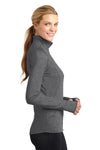 Sport-Tek LST850 Womens Sport-Wick Moisture Wicking 1/4 Zip Sweatshirt Heather Charcoal Grey Side