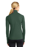 Sport-Tek LST850 Womens Sport-Wick Moisture Wicking 1/4 Zip Sweatshirt Forest Green Back
