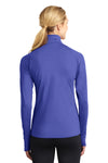 Sport-Tek LST850 Womens Sport-Wick Moisture Wicking 1/4 Zip Sweatshirt Iris Purple Back