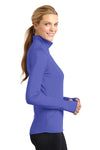 Sport-Tek LST850 Womens Sport-Wick Moisture Wicking 1/4 Zip Sweatshirt Iris Purple Side