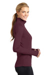 Sport-Tek LST850 Womens Sport-Wick Moisture Wicking 1/4 Zip Sweatshirt Maroon Side
