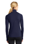 Sport-Tek LST850 Womens Sport-Wick Moisture Wicking 1/4 Zip Sweatshirt Navy Blue Back