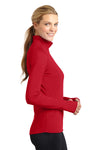Sport-Tek LST850 Womens Sport-Wick Moisture Wicking 1/4 Zip Sweatshirt Red Side