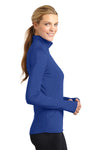 Sport-Tek LST850 Womens Sport-Wick Moisture Wicking 1/4 Zip Sweatshirt Royal Blue Side