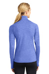 Sport-Tek LST850 Womens Sport-Wick Moisture Wicking 1/4 Zip Sweatshirt Heather Royal Blue Back