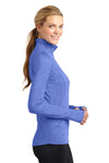 Sport-Tek LST850 Womens Sport-Wick Moisture Wicking 1/4 Zip Sweatshirt Heather Royal Blue Side