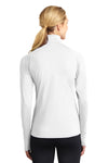Sport-Tek LST850 Womens Sport-Wick Moisture Wicking 1/4 Zip Sweatshirt White Back