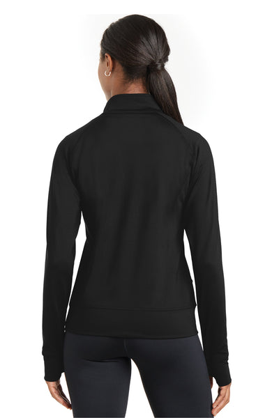 Sport-Tek LST885 Womens NRG Full Zip Sweatshirt Black Back