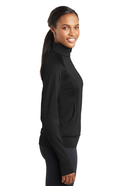 Sport-Tek LST885 Womens NRG Full Zip Sweatshirt Black Side
