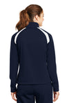 Sport-Tek LST90 Womens Full Zip Track Jacket Navy Blue Back