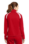 Sport-Tek LST90 Womens Full Zip Track Jacket Red Back